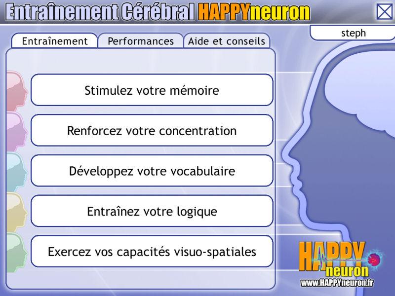 Entraînement Cérébral HAPPYneuron – Programme de gymnastique cérébrale complet