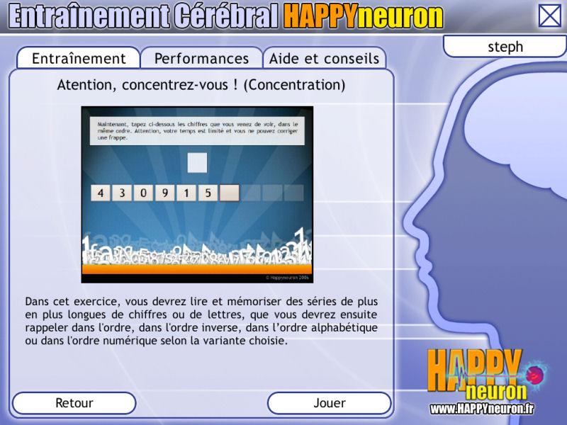 Entraînement Cérébral HAPPYneuron – Renforcez votre concentration