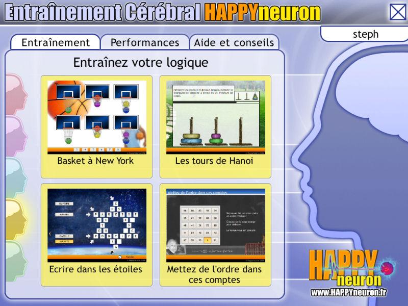 Entraînement Cérébral HAPPYneuron – Entraînez votre logique