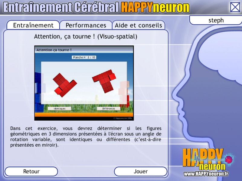 Entraînement Cérébral HAPPYneuron – Exercez vos capacités visuo-spatiales