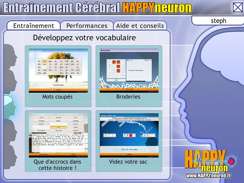 Entraînement Cérébral HAPPYneuron – Développez votre vocabulaire