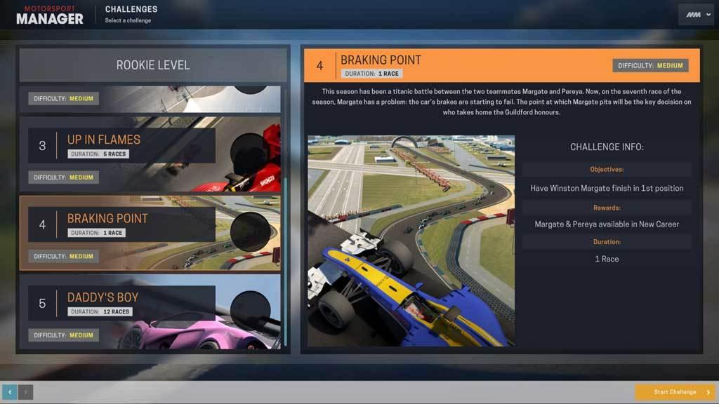 Motorsport Manager - Challenge Pack (DLC)