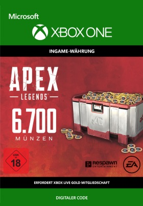 Apex Legends: 6700 Coins - Xbox One Code