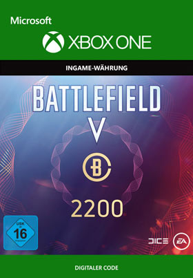 Battlefield V: Battlefield Currency 2200  - Xbox One Code