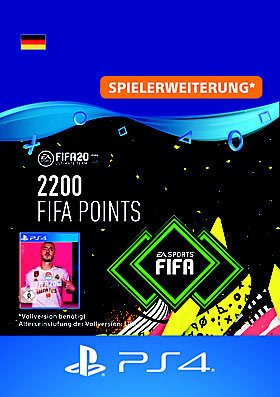 FIFA 20 ULTIMATE TEAM 2200 POINTS - PS4 Code