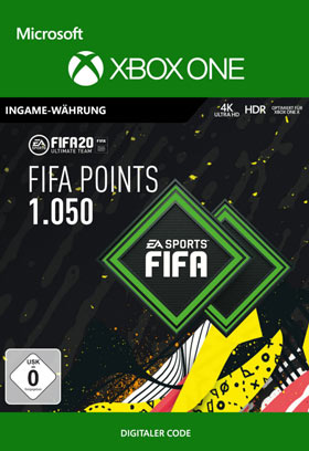 FIFA 20 ULTIMATE TEAM FIFA POINTS 1050 - Xbox One Code