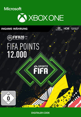 FIFA 20 ULTIMATE TEAM FIFA POINTS 12000 - Xbox One Code
