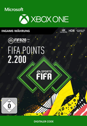 FIFA 20 ULTIMATE TEAM FIFA POINTS 2200 - Xbox One Code