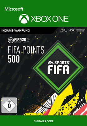 FIFA 20 ULTIMATE TEAM FIFA POINTS 500 - Xbox One Code