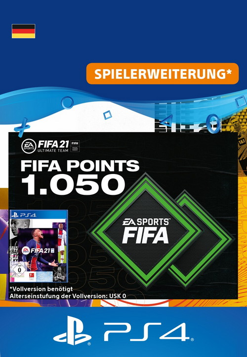 FIFA 21 ULTIMATE TEAM - 1050 Points - PS4 Code