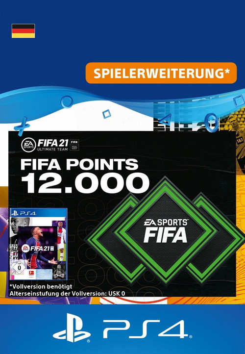 FIFA 21 ULTIMATE TEAM - 12000 Points - PS4 Code