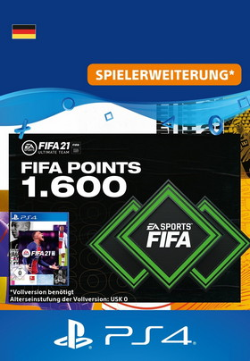 FIFA 21 ULTIMATE TEAM - 1600 Points - PS4 Code