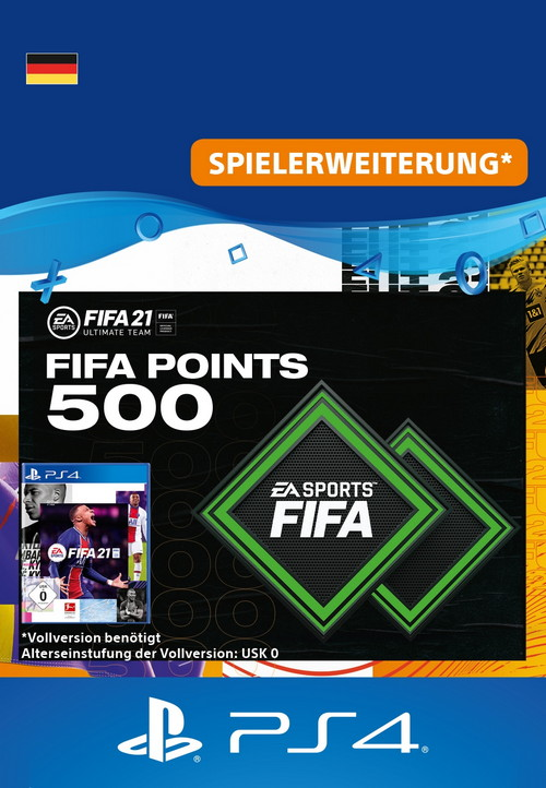 FIFA 21 ULTIMATE TEAM - 500 Points - PS4 Code