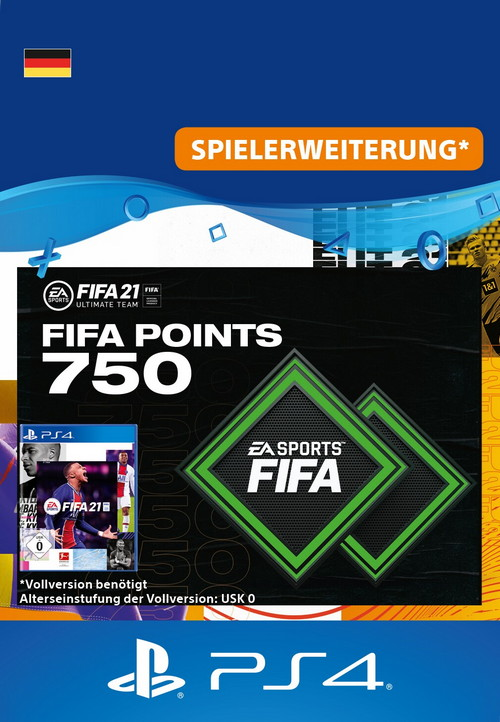 FIFA 21 ULTIMATE TEAM - 750 Points - PS4 Code
