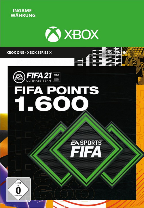 FIFA 21 ULTIMATE TEAM 1600 POINTS - Xbox Code
