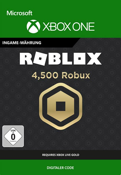 ROBLOX: 4,500 Robux - Xbox One Code