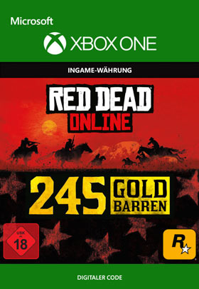 Red Dead Redemption 2: 245 Gold Bars - Xbox One Code