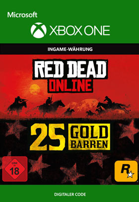 Red Dead Redemption 2: 25 Gold Bars - Xbox One Code One Code One Code