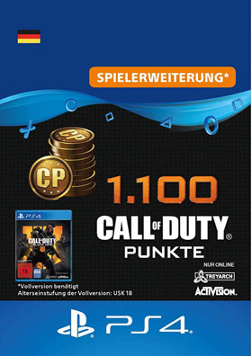 1.100 Call of Duty®: Black Ops 4-Punkte - Playstation