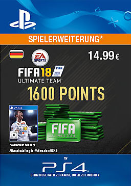 FIFA 18 Ultimate Team 1600 Points - PlayStation