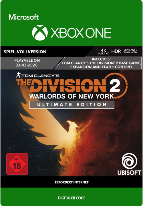 Tom Clancy's The Division 2: Warlords of New York Ultimate Edition - Xbox One Code