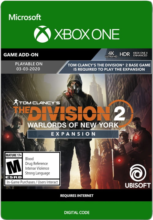 Tom Clancy's The Division 2: Warlords of New York Expansion - Xbox One Code