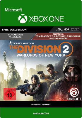 Tom Clancy's The Division 2: Warlords of New York Edition - Xbox One Code