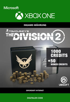 Tom Clancy's The Division 2: 1050 Premium Credits Pack  - Xbox One Code