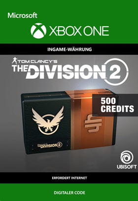 Tom Clancy's The Division 2: 500 Premium Credits Pack - Xbox One Code