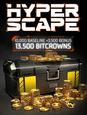 Hyper Scape Virtual Currency: 13500 Bitcrowns Pack