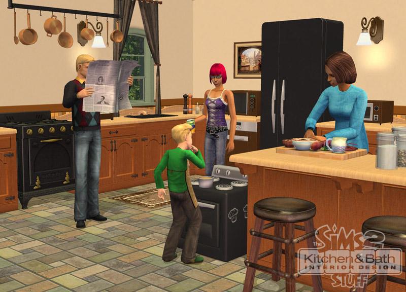The Sims 2 Kitchen&Bath Interior Design Stuff