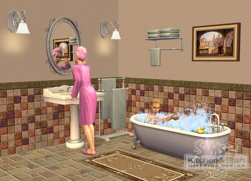 Les sims 2 kit cuisine et salle de bain design for Architecture cuisine et bains