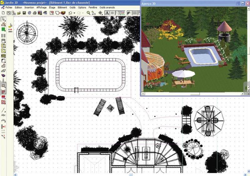 3d jardin paysagisme. Black Bedroom Furniture Sets. Home Design Ideas