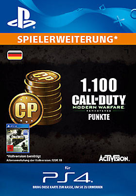 1.100 Call of Duty®: Modern Warfare® Remastered-Punkte - Playstation