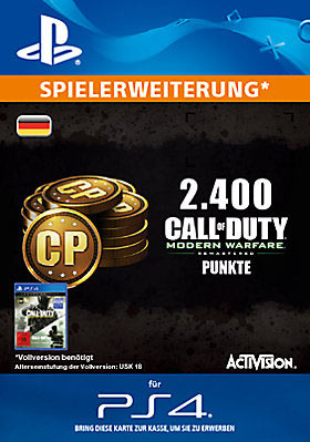2.400 Call of Duty®: Modern Warfare® Remastered-Punkte - Playstation
